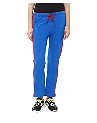 Yepme Women's Blue Cotton Trackpants - YPMTPANT5030_XL