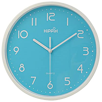Hippih Silent Non-ticking Quartz Indoor Decoration Wall Clock
