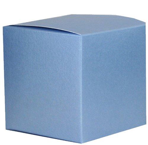 Perlmuttartige Geschenkbox, Blau, 75 x 75 X75MM (7.62 cm)