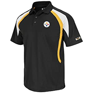 Pittsburgh Steelers Black Field Classic VI Synthetic Polo by VF