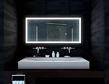 Progettazione bagno specchio lampada LED 140x65cm