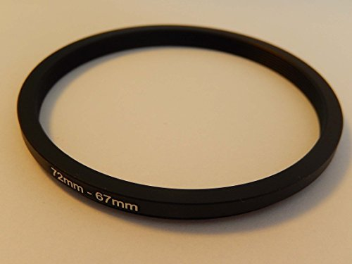 vhbw Step UP Filter-Adapter 72mm-67mm schwarz für Kamera Panasonic, Pentax, Ricoh, Samsung, Sigma, Sony, Tamron