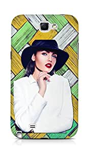 Amez designer printed 3d premium high quality back case cover for Samsung Galaxy Note 2 N7100 (High fashion of beautiful sexy stylish Girl)
