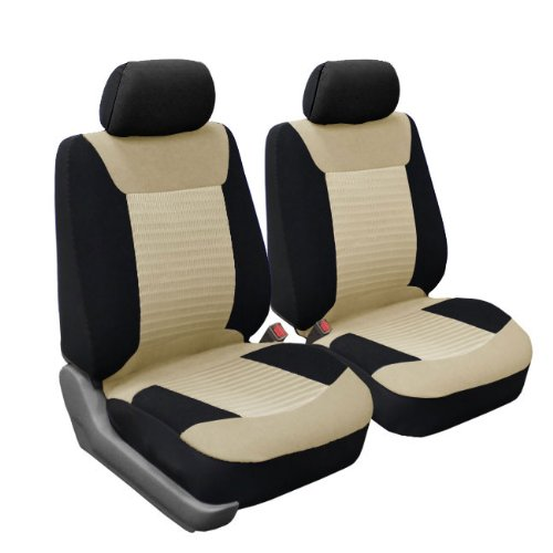 fh fb062114 classic corduroy car seat covers airbag compatible and split bench beige and black. Black Bedroom Furniture Sets. Home Design Ideas