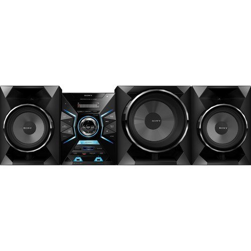 """Sony 1600 Watt Audio Hi-Fi Surround Sound Stereo Shelf System With Cd Player, Digital Tuner Am/Fm Radio Receiver With 30 Presets, 3-Way Speaker System With 10"""" Sub-Woofer, Bluetooth Audio Streaming With One-Touch Nfc Pairing, Dual Front Usb Input For Mp3"""