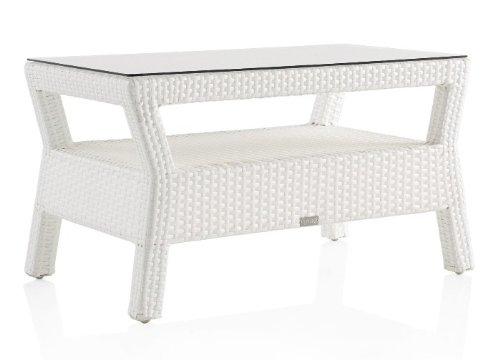 Mesa de centro de aluminio y resina blanco ref. 5817/b