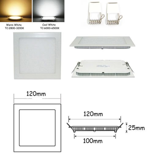 Happu-Store New Warm White Bright Cree Led 6W Recessed Ceiling Panel Down Light Bulb Lamp