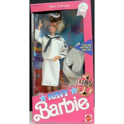 Navy Barbie 1990 – NRFB als Weihnachtsgeschenk
