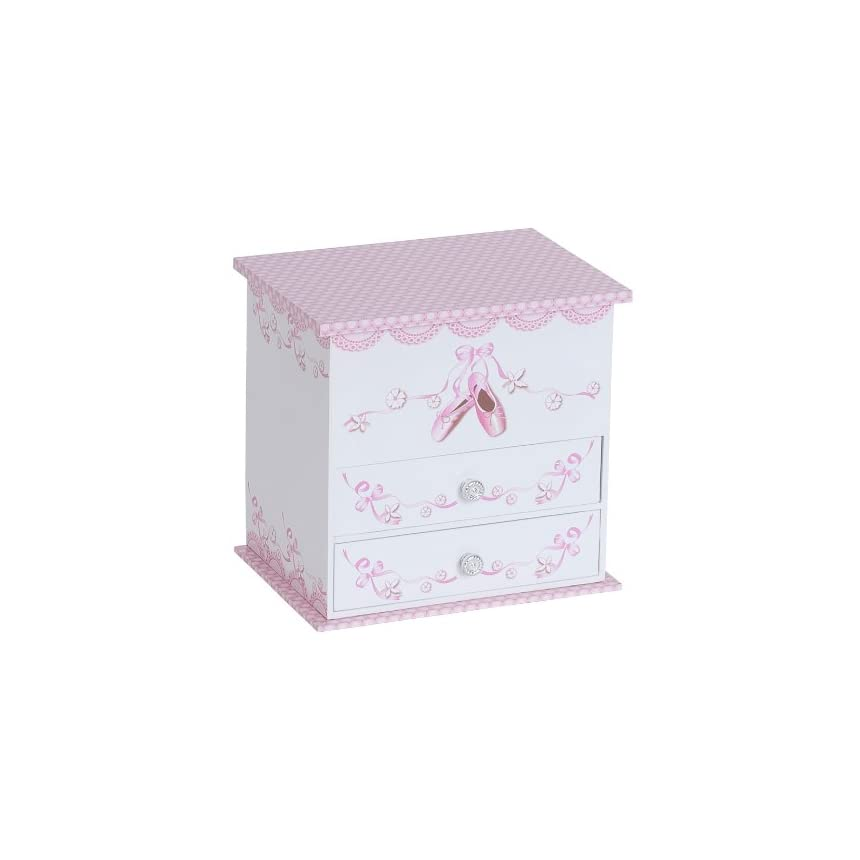 Mele & Co. Angel Girl's Wooden Musical Ballerina Jewelry Box with Fashion Paper Overlay- free S/H