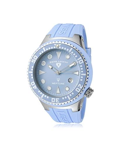 Swiss Legend Men's 21848D-012 Neptune Light Blue Dial Light Blue Silicone Watch