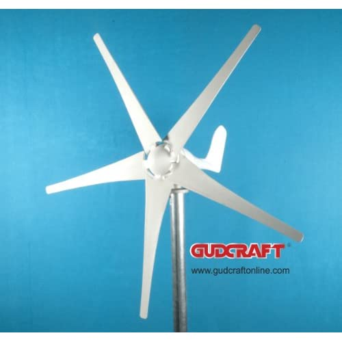 12 Volt 5 Blade Residential Wind Turbine Generator Kit with Controller