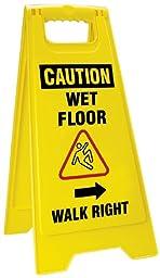 Accuform Signs PFW426 Sturdy Plastic 2 X Fold-Ups Floor Sign, Legend \