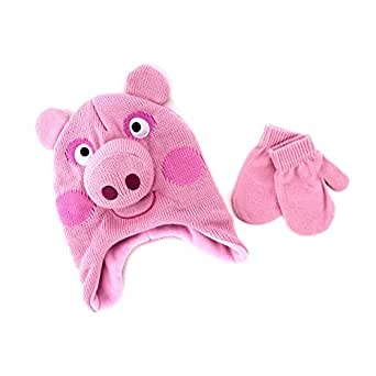 Peppa Pig Kids Hat and Mittens Set