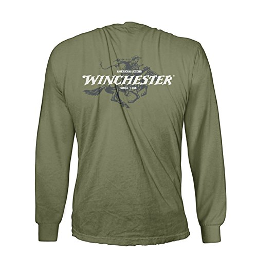 official-winchester-mens-cotton-legend-rider-graphic-printed-long-sleeve-t-shirt-medium-military-gre