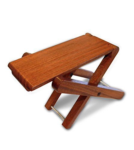 Cordoba Folding Wood Folding Footstool (Rosewood) Guitar Stool