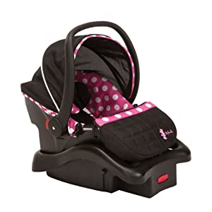 Disney Baby Minnie Mouse Light N Comfy Luxe Infant Car Seat, Minnie Dot