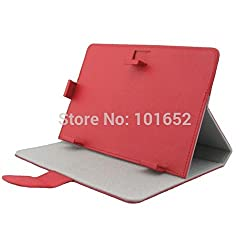 Shopaholic RED Universal 10 inch Tablet Flip Folio Case Cover for Samsung Apple Micromax etc.