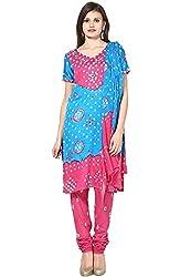 Soundarya Ethnicwear Mirror work Cotton Dress Material for Women (BS2)
