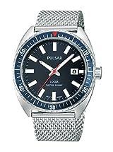 Pulsar Bracelet Blue Dial Men's Watch #PS9229