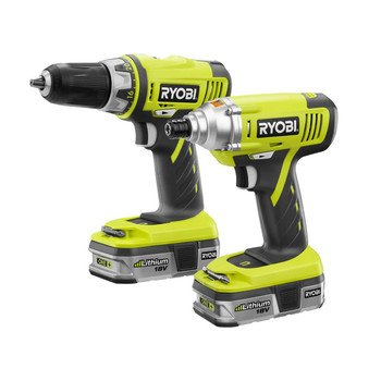 Factory-Reconditioned Ryobi ZRP838 ONE Plus 18V Cordless Lithium-Ion 2-Tool Combo Kit