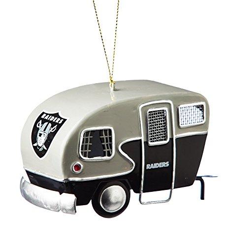 Metal Oakland Raiders Camper Ornament