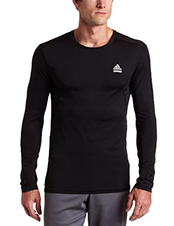 adidas Men's Techfit Fitted Long-Sleeve Top, Black, X-Large