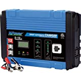 NPower Automatic Battery Charger/Maintainer - 2/8/12 Amp Charge Rate, 12 Volt Batteries