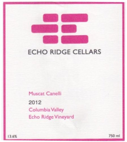 2012 Echo Ridge Cellars Muscat Canelli 750 Ml