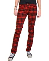 Red Tartan Checked Trousers