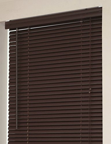 Achim Home Furnishings Morning Star 1 Inch Mini Blinds, 26 By 64 Inch, Chocolate
