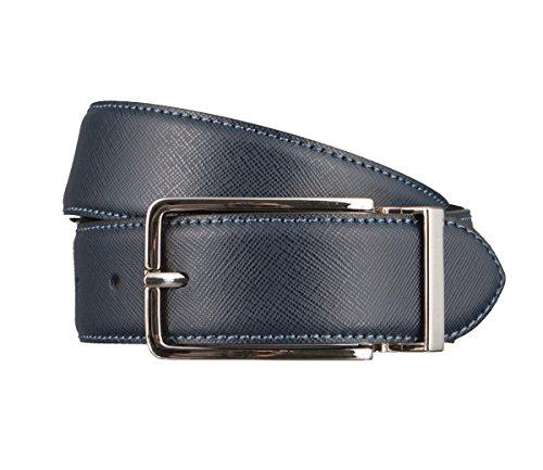 OTTO KERN Cintura di uomini Cintura di Pelle blu, Länge:115 cm;Farbe:blau