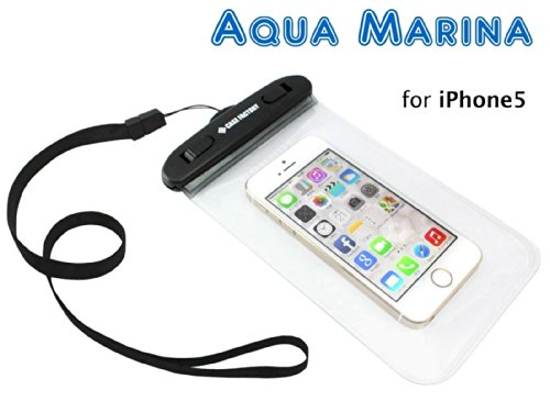 CASE FACTORY 防水ケース AQUA MARINA for iPhone6(4.7)/5s,GALAXY Note3,Xperia Z2/1,防水性能IPX8ネックストラップ付属 AAM-002 クリア