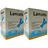 200 x Home Health UK 28G Lancets - Manufacturer Confirmed Fully Compatible Lancets for PiC Indolor, Microlet, Freestyle, Abbott, One Touch , SD and many more..