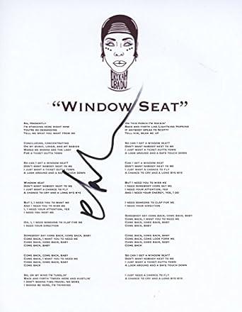Window Seat lyrics to window seat : Erykah Badu Signed 'Window Seat' Lyric Sheet Autograph Authentic ...