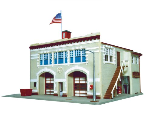 Life-Like Trains HO Scale Building Kits - Fire House