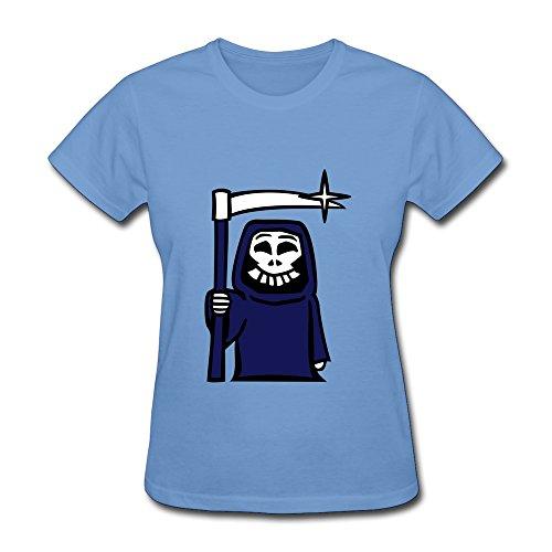 ZWSY Women's T-shirt Grim Reaper Size XXL Sky (Grim Reaper Grinder compare prices)