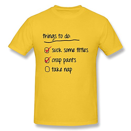 Things Do Men Gold T-Shirt front-323866