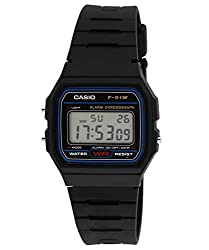 Casio Youth Digital Black Dial Mens Watch - F-91W-1DG (D002)