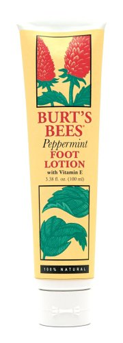 Burt's Bees Foot Lotion, Peppermint, 3.38-Ounce Tubes (Pack of 2)