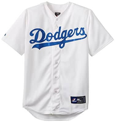 MLB Mens Los Angeles Dodgers Adrian Gonzalez Home Replica Baseball Jersey