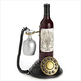 Connoisseur Wine Bottle And Glass Design Telephone: Office Products