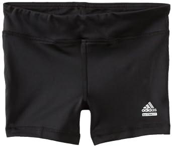 adidas Big Girls' Techfit Solid Short, Black, X-Large