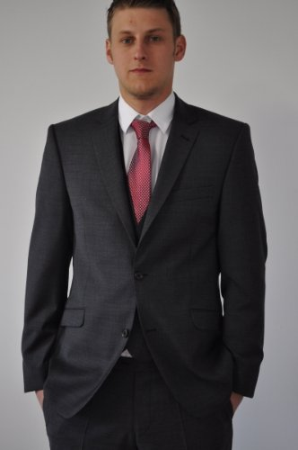 Three-Piece Suit in charcoal- grey, Brand: Lanificio Tessile d'Oro 26 (Short 42)