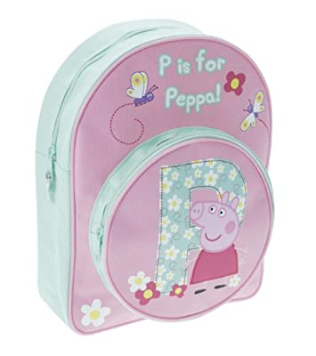 P is for Peppa Peppa Pig Arch Backpack with Front Pocket by Trade Mark Collections