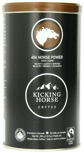 Kicking Horse Coffee 454 Horse Power Dark, Whole Bean Coffee, 12.3-Ounce Tins (Pack of 2) by Kicking Horse Coffee [Foods]