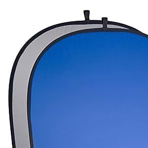 Walimex Pro 2in1 Falthintergrund grau/blau (150x200 cm)