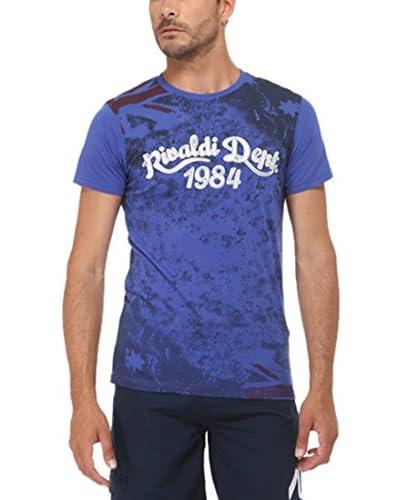 Rivaldi Camiseta Manga Corta Mentalsy Azul / Negro