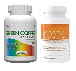 Green Coffee Bean Extract With GCA - 800mg Per Serving, 120 Vegetarian Capsules, No Fillers, 50% Chlorogenic Acids, (Contains GCA), 2 60ct Bottles