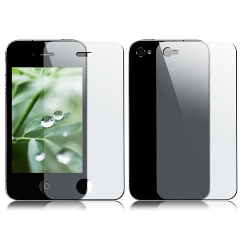 GTMax Clear Front & Back Body Protector Shield Guard with Cleaning Cloth for Apple iPhone 4 4G 16GB / 32GB 4th Generation