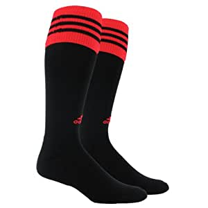 adidas Men's Copa Zone Cushion Sock, Black/Infrared, Medium, Men's Shoe Size 5-8.5, Women's Shoe Size 5-9.5